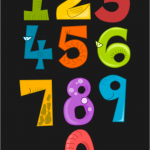 Picture of some numerals