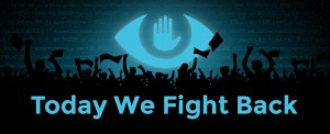 The Day We Fight Back banner from the Electronic Frontier Foundation
